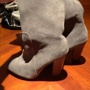 Cynthia Rowley Gray Suede Leather Tall Boots